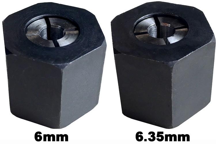マキタ ルータ用コレットチャック 6mm/6.35mmセット(RP2301FC/RP1801)