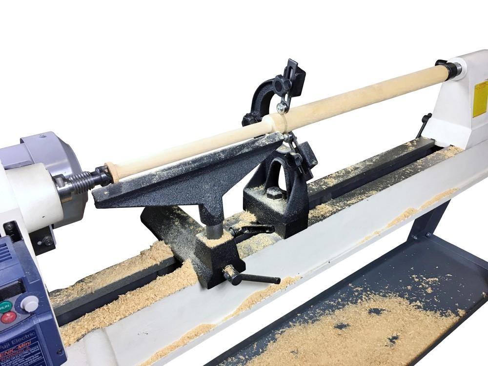 ピーウッド 木工旋盤用振れ止め+ドリルチャックセット(PWL-450VD/PWL-455用)