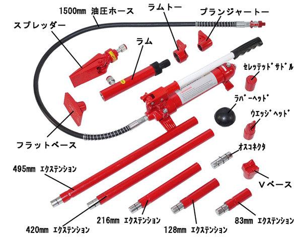 トライパワー ロングラムジャッキ(4t) TR-057PP