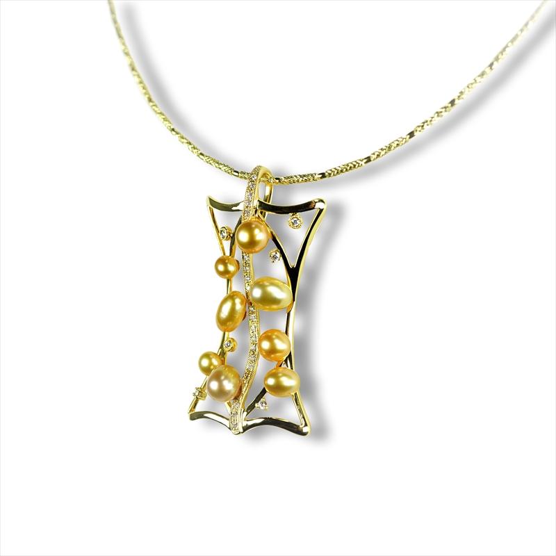 K18 ゴールドケシ ペンダントネックレス