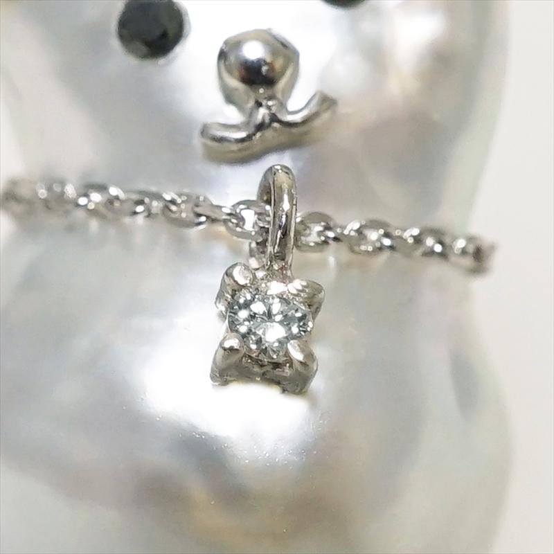 K18WG バロックパール 犬 タイニーピン