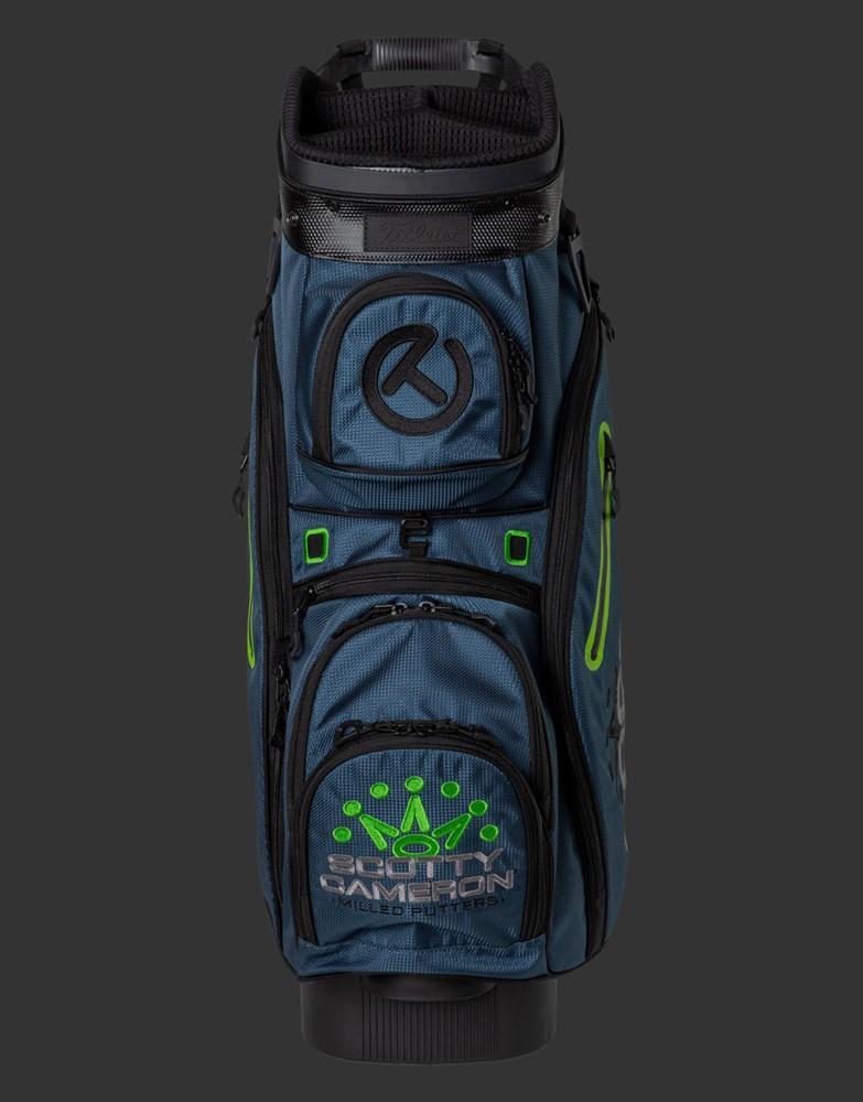 スコッティキャメロン エクスプローラー カートバッグ ブルー/ライム CAMERON 2021 EXPLORER CART BAG BLUE/LIME 102302