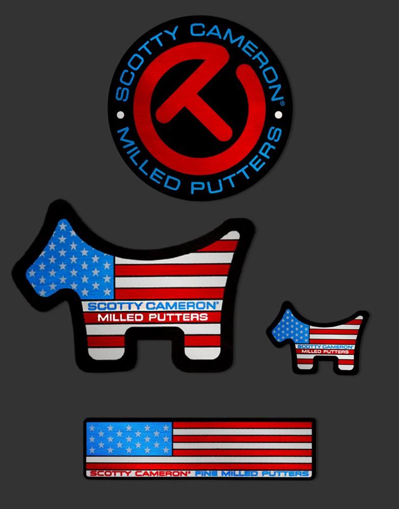 <送料無料代引不可メール便>キャメロン USAスコッティドッグ ステッカー スモール SCOTTY CAMERON 2021 USA DOG STICKERS SMALL 102857DGS