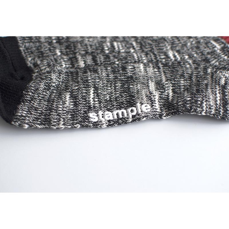 [まとめ買い対象]stample(スタンプル)/スラブスウィッチ リブ クルーソックス 3足組