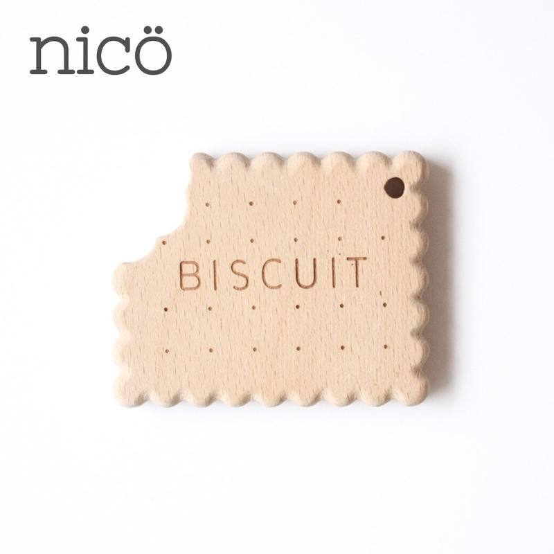 nico/木製歯固め ビスケット ニコ ベビー 歯がため はがため