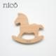 nico/木製歯固め 木馬 ニコ ベビー 歯がため はがため