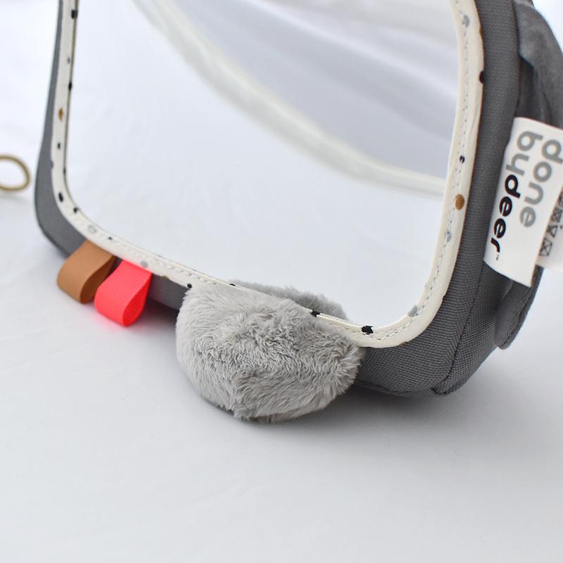 [送料無料] Done by Deer/アクティビティフロアミラー エルフィ グレー Activity floor mirror Elphee grey ダンバイディア 北欧 ベビー うつ伏せ遊び