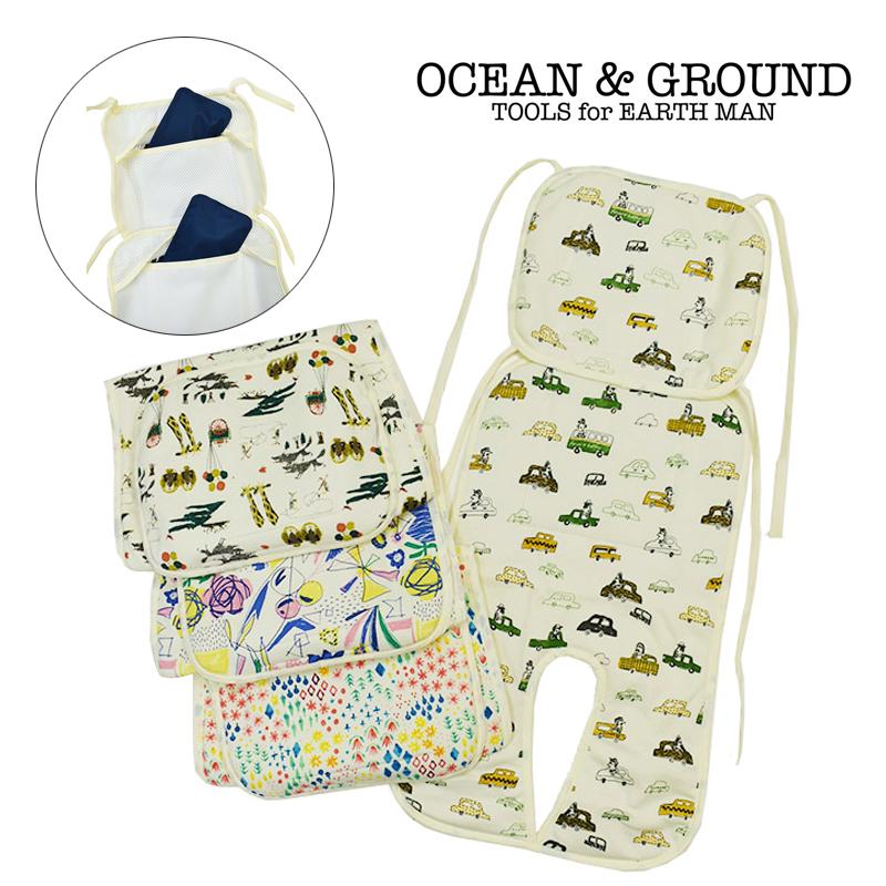 Ocean&Ground/ベビーカー冷え冷えシート オーシャンアンドグラウンド