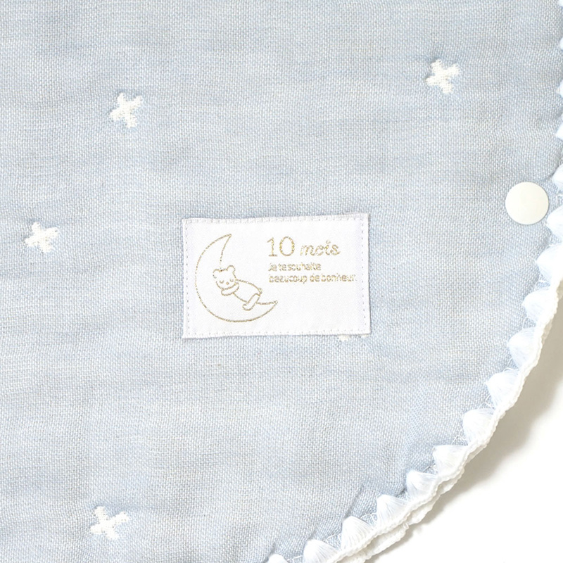 10mois/ふくふくガーゼ(6重ガーゼ) スリーパー ベビーサイズ ディモワ おしゃれ 出産祝い