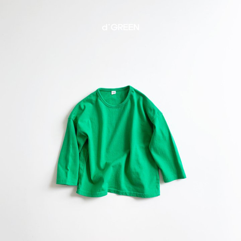 digreen/colored paper T カラードペーパーTシャツ 薄手 ディグリーン キッズ 韓国子供服