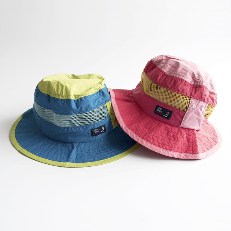 stample(スタンプル)/ナイロン アウトドアハット ブルー 男の子 子供 帽子