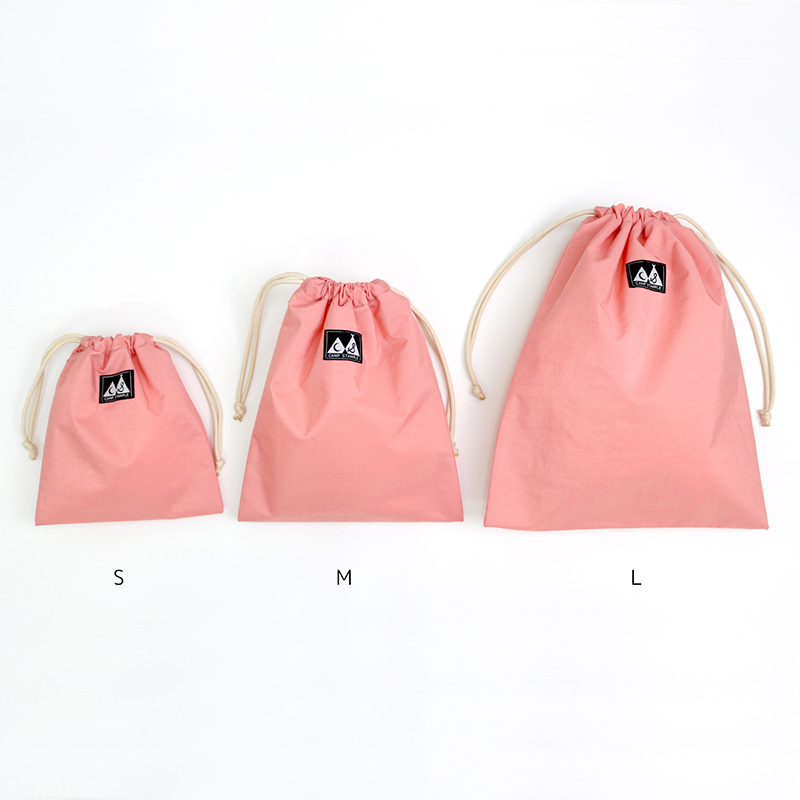 stample(スタンプル)/ウォッシュドナイロン巾着 M 中
