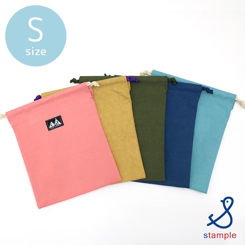 stample(スタンプル)/ウォッシュドナイロン巾着 S 小