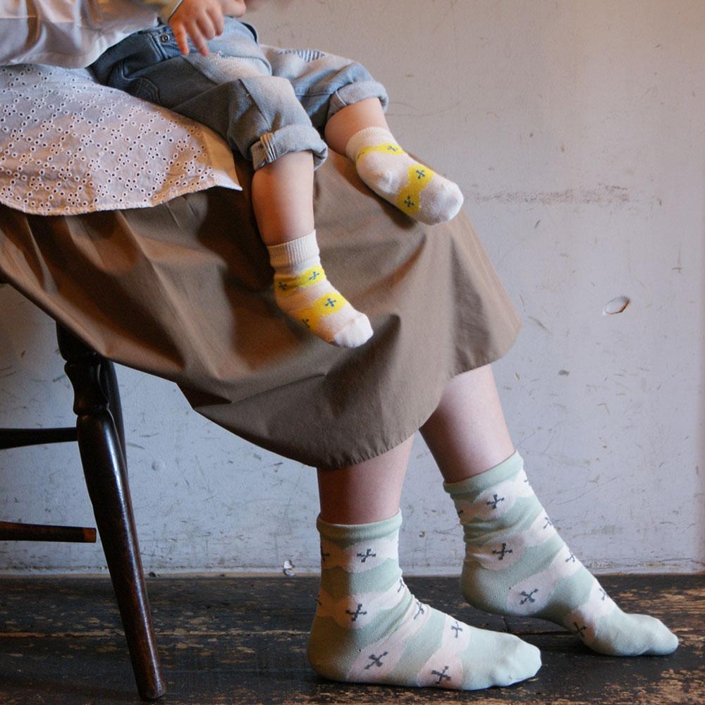Kieppi(キエッピ)/PERHESUKAT 親子お揃いソックス 2足セット 靴下 フィンランド 親子コーデ