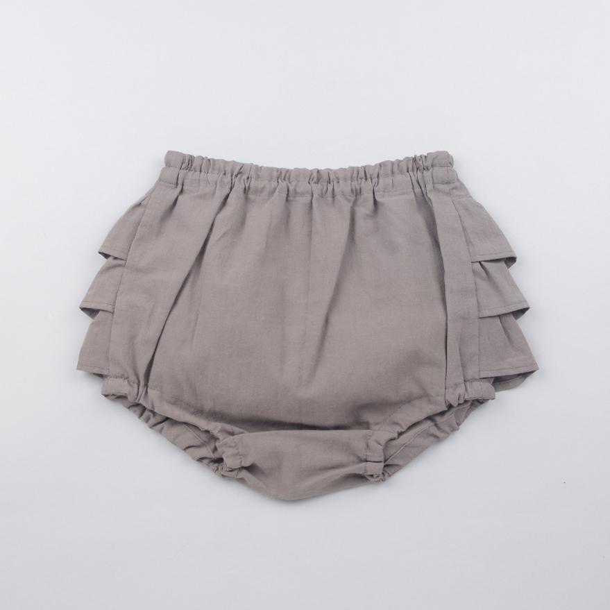 [送料無料] mimi poupons(ミミプポン)/フリルパンツ ソフトローン 70cm〜90cm ブルマコーデ 1歳 誕生日