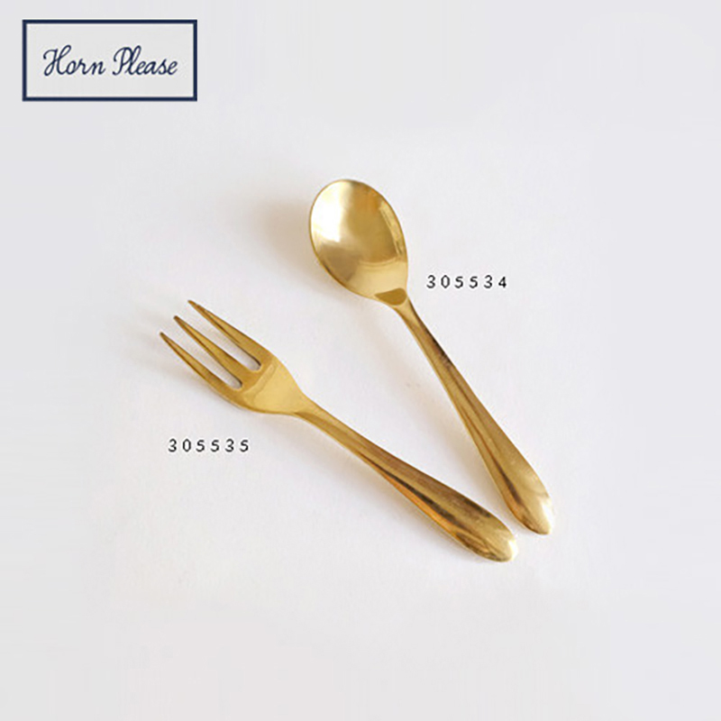 Horn Please MADE/BRASS ティースプーン デザートフォーク 12cm