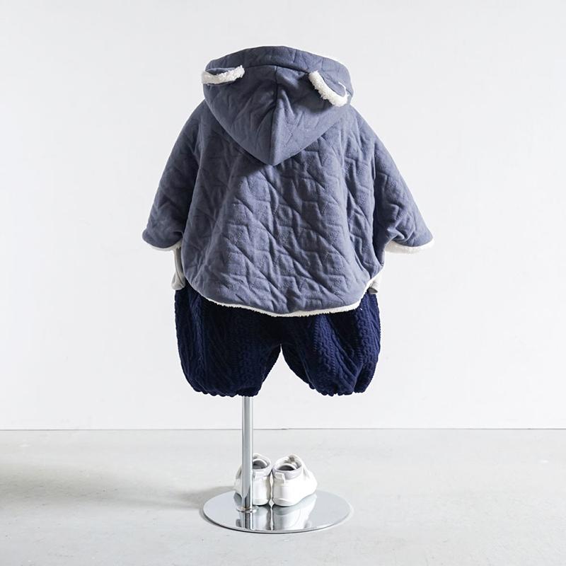 10mois/starキルト 耳つきマント ディモワ 防寒 あったか 新生児〜100cm