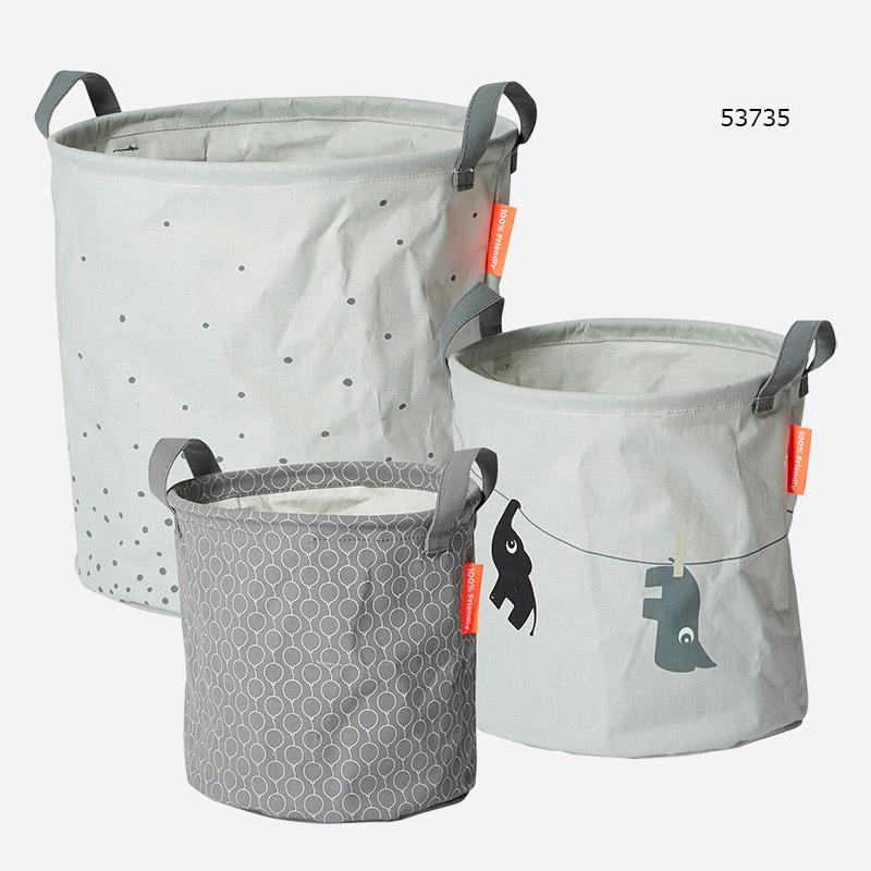 Done by Deer/ソフトストレージバスケット(3個セット) Soft storage baskets 3pcs【送料無料】 ダンバイディア おもちゃケース 収納 北欧