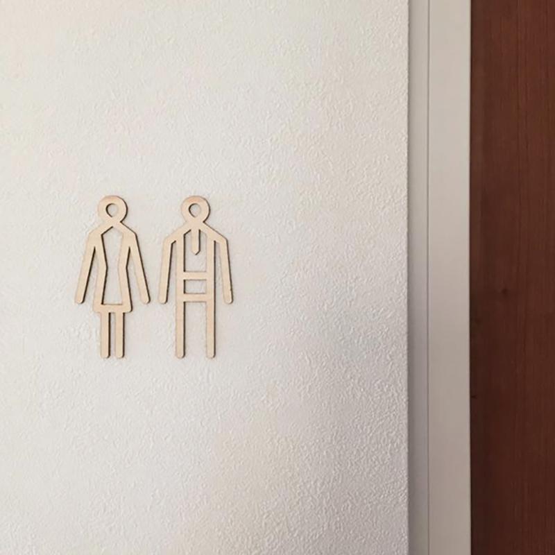 Sukima./トイレサイン シナ材 toilet sign スキマ 木製 インテリア ウォールステッカー