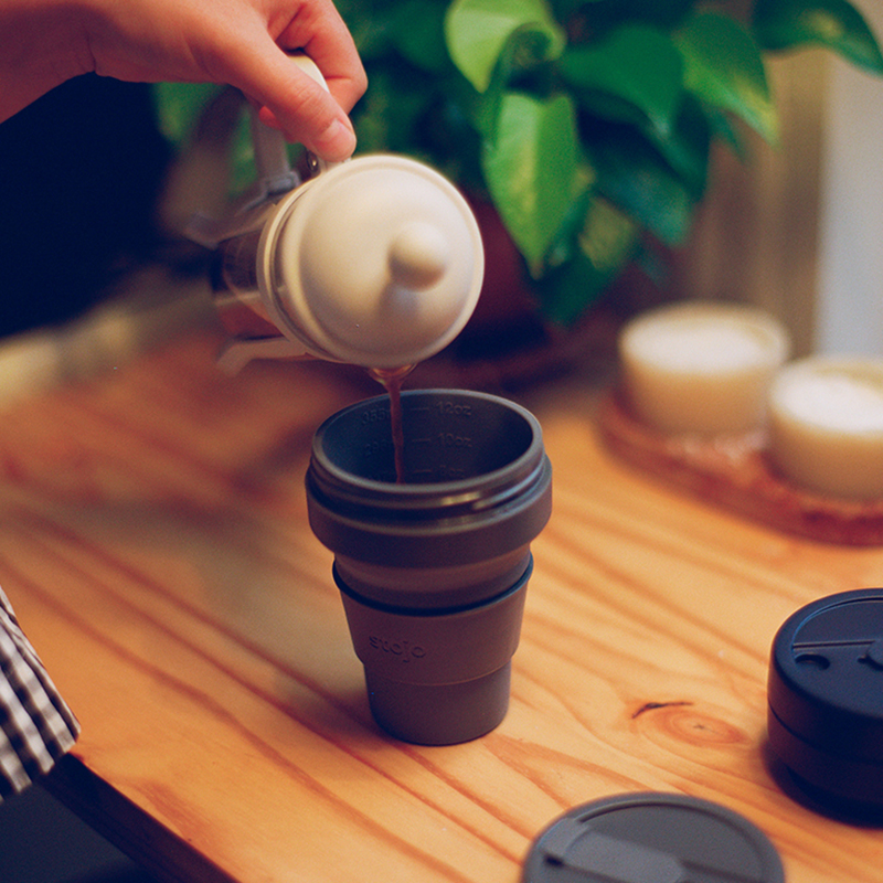 [2020秋の新色!]STOJO/POCKET CUP 12oz(355ml) 折り畳みマイカップ ストージョ シリコンカップ