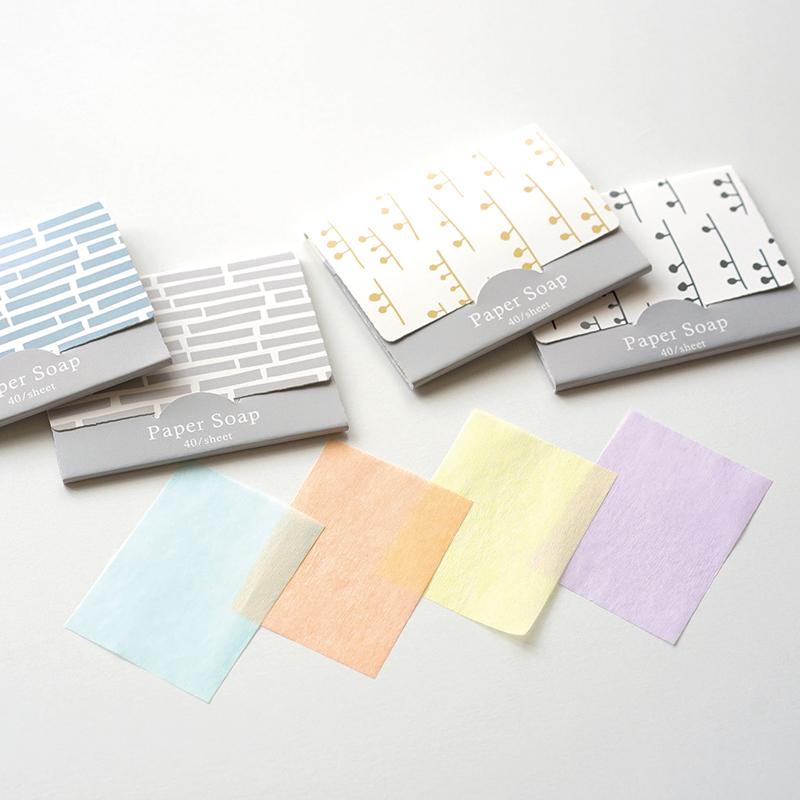 Hyva ( ヒュバ ) /紙せっけん kivi papu 40枚入り 北欧柄 ペーパーソープ 日本製