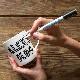 eatsleepdoodle(イートスリープドゥードゥル)/マグカップ+ペン doodle mug with ceramic pen