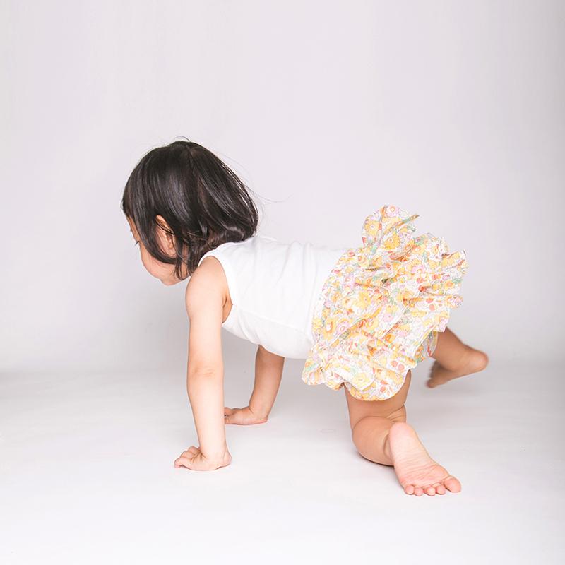 [送料無料] mimi poupons(ミミプポン)/フリルパンツ LIBERTY リバティ 70cm〜90cm ブルマコーデ 1歳 誕生日