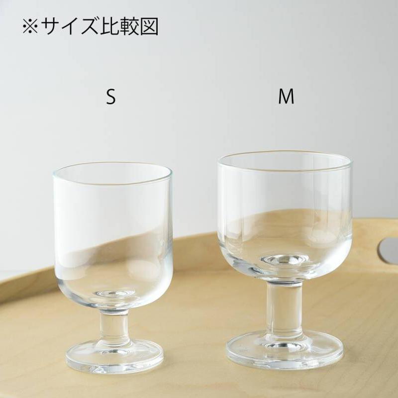 しっぽりおうち時間♪ ゴブレット M 高さ10.9cm 口径7.3cm ガラス イタリア製