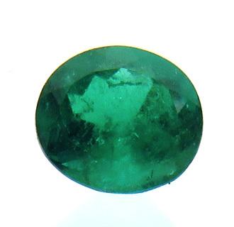 1648【値打ち】エメラルド ルース 0.73ct 高彩度の青緑 クリーン コロンビア : 瑞浪鉱物展示館 【送料無料】