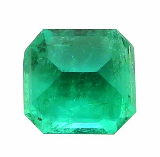 1699【値打ち】エメラルド ルース 0.96ct 高彩度の青緑 クリーン コロンビア : 瑞浪鉱物展示館 【送料無料】