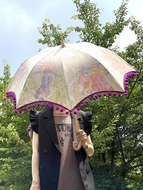 nuts 日傘 ポンポン小