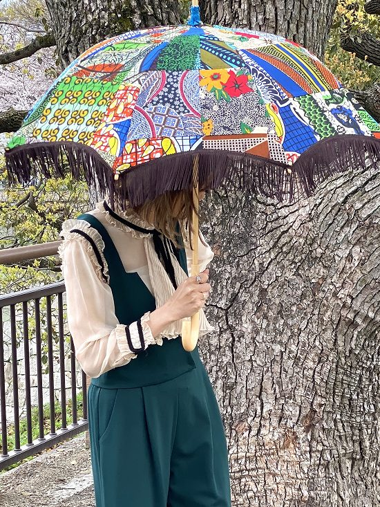 nuts 日傘 フリンジ