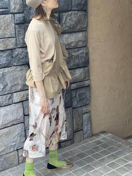 q.b.c 柄タイトスカート