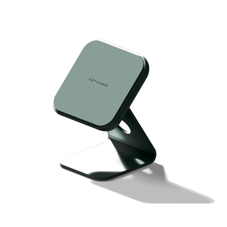 WARP Solution STAND:ON 2WAYミニワイヤレス充電器 ヘイジーグリーン