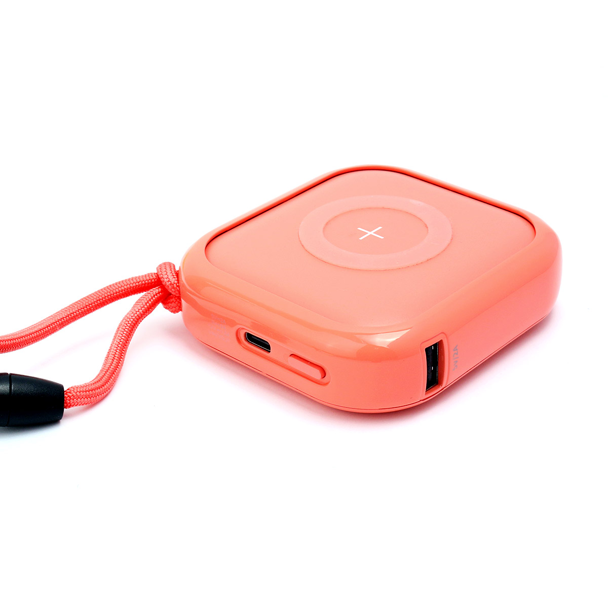 MIPOW ワイヤレスモバイルバッテリー POWER CUBE PRO 10,000mAh コーラルピンク