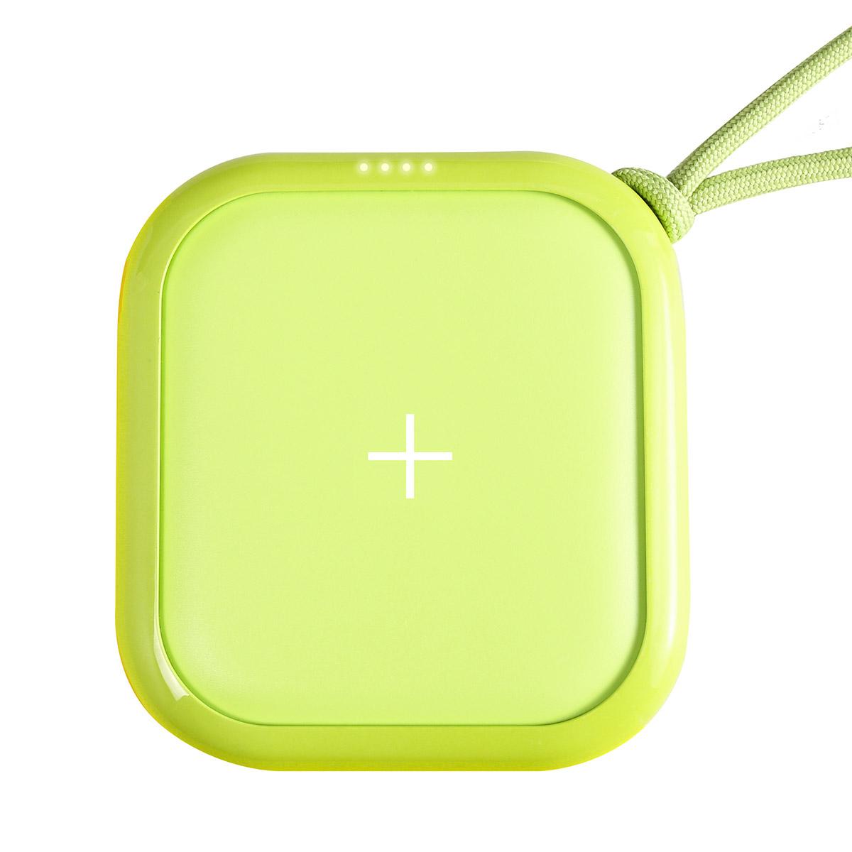 MIPOW ワイヤレスモバイルバッテリー POWER CUBE PRO 10,000mAh ネオングリーン
