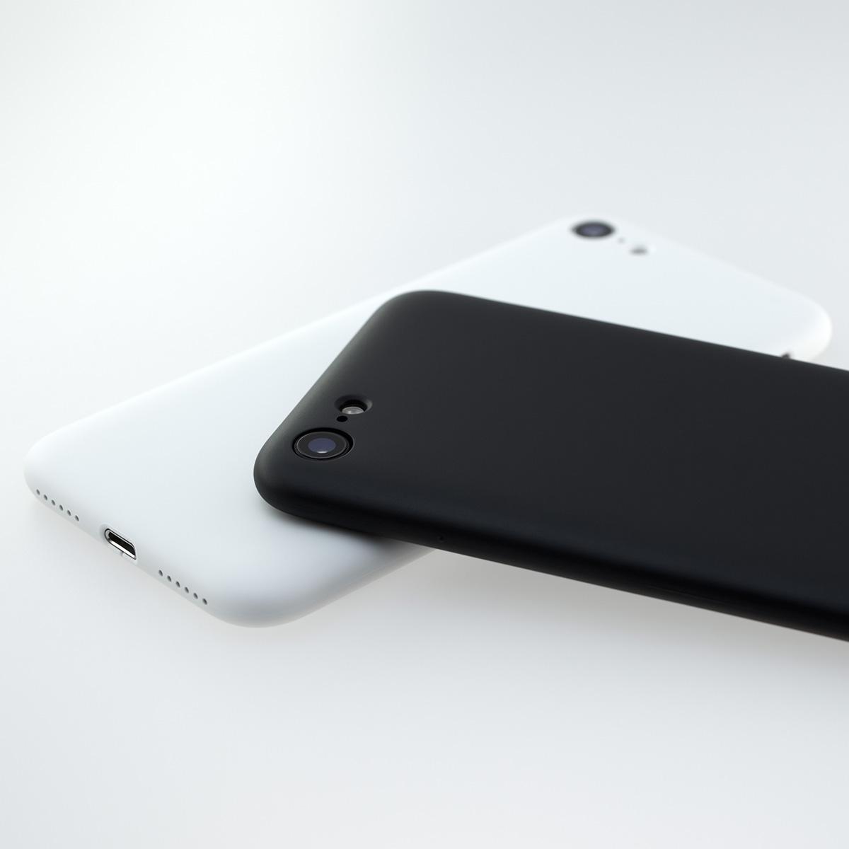 【ネコポス送料無料】【iPhoneSE2/8/7】MYNUS CASE(マットホワイト)