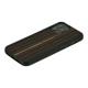 【ネコポス送料無料】【iPhone12 Pro Max】Man&Wood 天然木ケース Ebony
