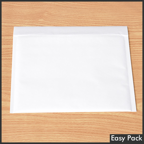 【K50X-WH-420】 【法人様宛は送料無料】 紙クッション封筒スリムタイプ 色:ホワイト / サイズ:50 (縦228mmX横312mm)