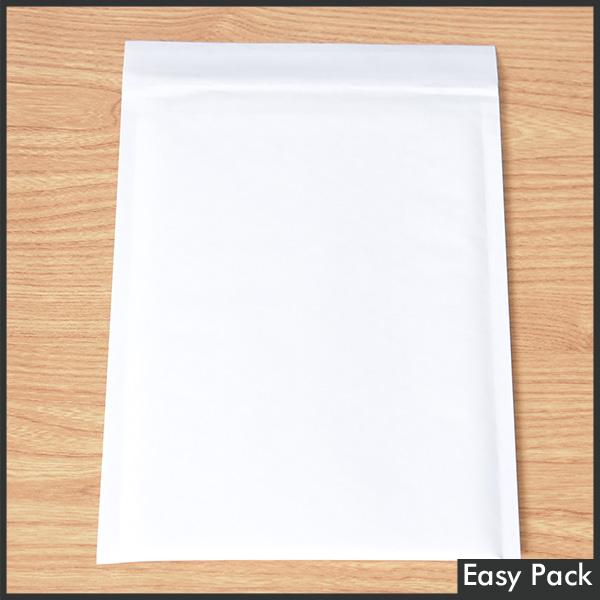 【K40-WH-300】 【法人様宛は送料無料】 紙クッション封筒 色:ホワイト / サイズ:40 (縦280mmX横205mm)