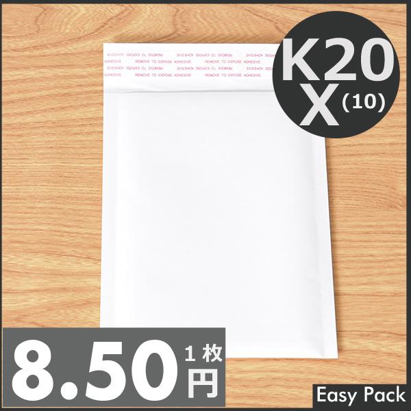 【K20X-WH-1000】 【10箱以上セット】 【法人様宛は送料無料】 紙クッション封筒スリムタイプ 色:ホワイト / サイズ:20 (縦200mmX横150mm)