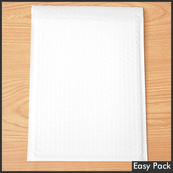 【法人様宛は送料無料】 耐水ポリビニルクッション封筒 色:ホワイト / サイズ:60 (縦320mmX横260mm)