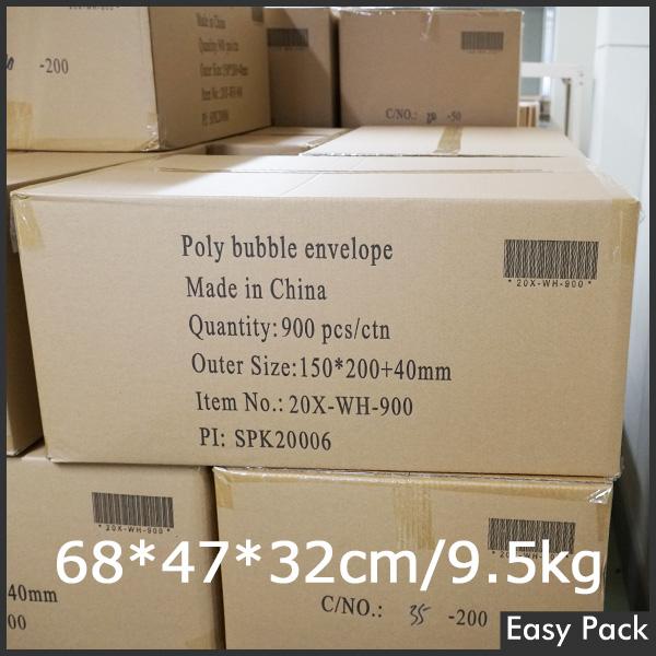 【20X-WH-900】 【10箱以上セット】 【法人様宛は送料無料】 耐水ポリビニルクッション封筒スリムタイプ 色:ホワイト / サイズ:20 (縦200mmX横150mm)