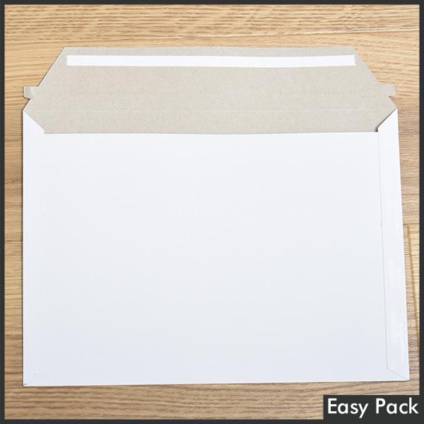 【CBE-NK-WH-400】 【10箱以上セット】 【法人様宛は送料無料】 開封テープ付厚紙封筒(レターケース) 色:ホワイト / サイズ:ネコポス最大 (縦228mmX横312mm)