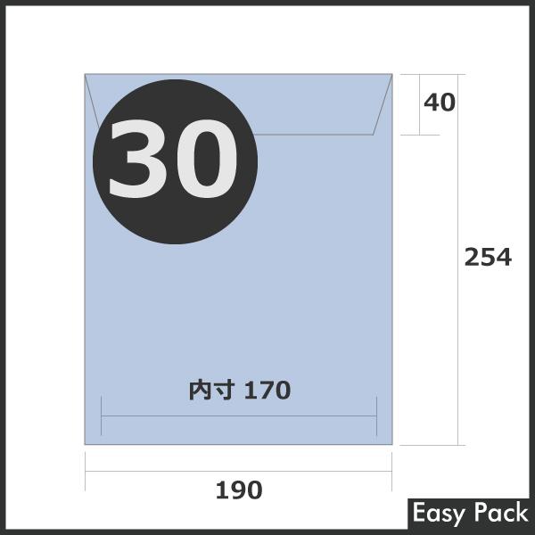 【30-BL-320】 【法人様宛は送料無料】 耐水ポリビニルクッション封筒 色:パープルブルー / サイズ:30 (縦254mmX横190mm)