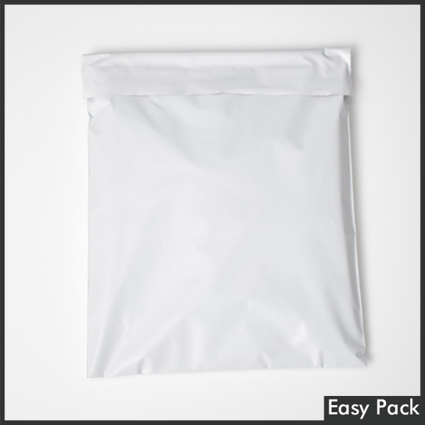 【PB2-M-WH】 【10箱以上セット】 【法人様宛は送料無料】宅配ビニル袋 PE0.06mm 色:ホワイトグレー / サイズ M  (縦320mm X 横260mm + 折返50mm)