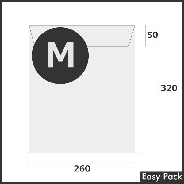 【2箱以上セット】 【法人様宛は送料無料】宅配ビニル袋 PE0.06mm 色:ホワイトグレー / サイズ M  (縦320mm X 横260mm + 折返50mm)
