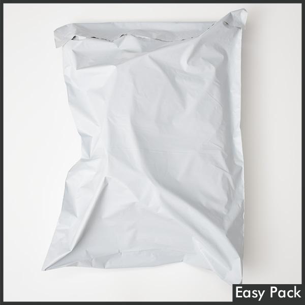 【PB2-LL-WH】 【10箱以上セット】 【法人様宛は送料無料】 宅配ビニル袋 PE0.06mm 色:ホワイトグレー / サイズ LL  (縦480mm × 横380mm + 折返50mm)