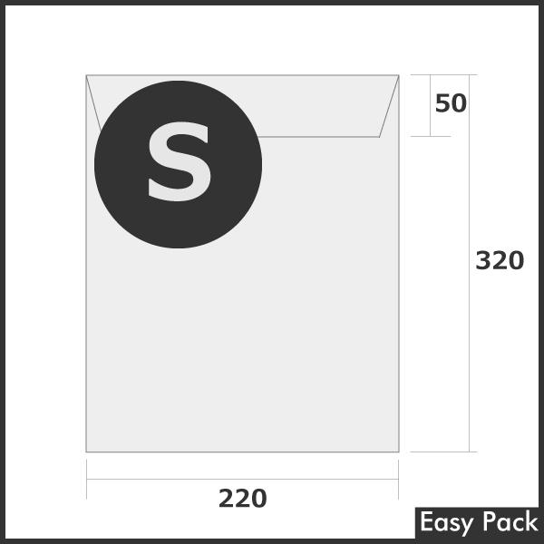 【法人様宛は送料無料】宅配ビニル袋 PE0.06mm 色:ホワイトグレー / サイズ S  (縦320mm × 横220mm + 折返50mm)