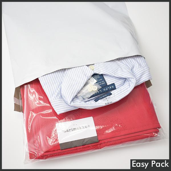 【PB2-L-WH】【法人様宛は送料無料】宅配ビニル袋 PE0.06mm 色:ホワイトグレー / サイズ L  (縦430mm × 横320mm + 折返50mm)